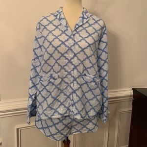 Roberta Roller Rabbit PJ Shorts Set Large Cotton